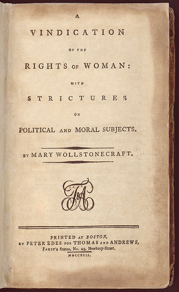 mary wollstonecraft published essays on the rights of women