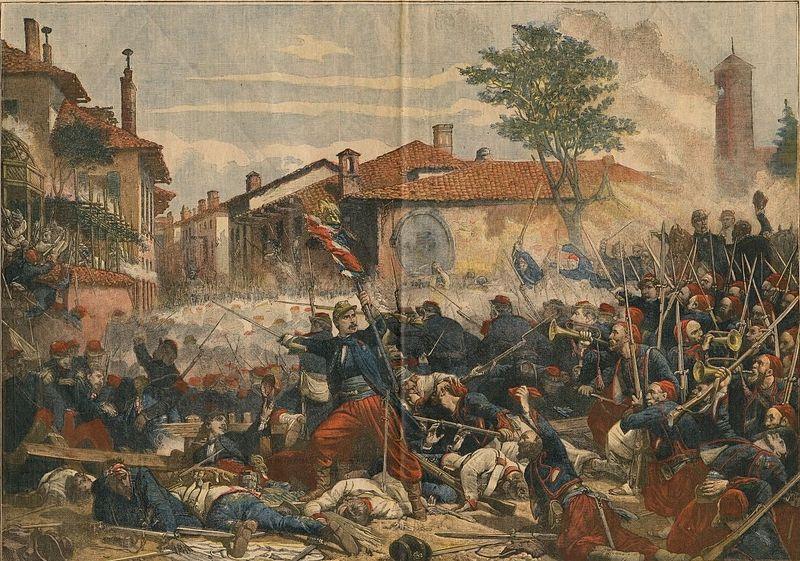 Representation of the Battle of Magenta