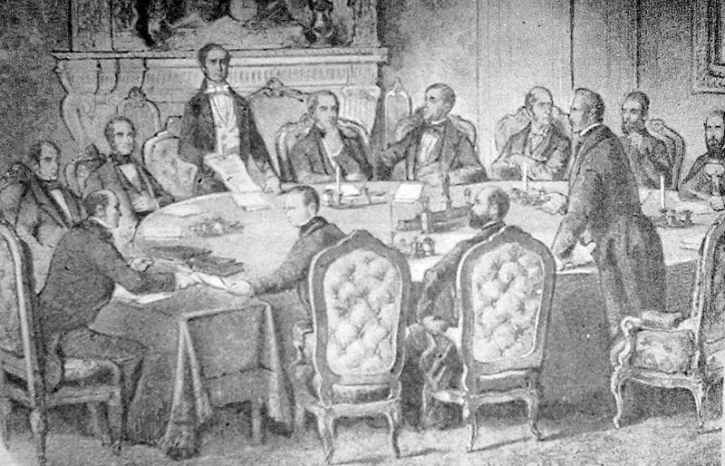 Illustration of the Treaty of Paris