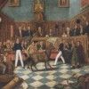Painting of the Trial of Bill Burns