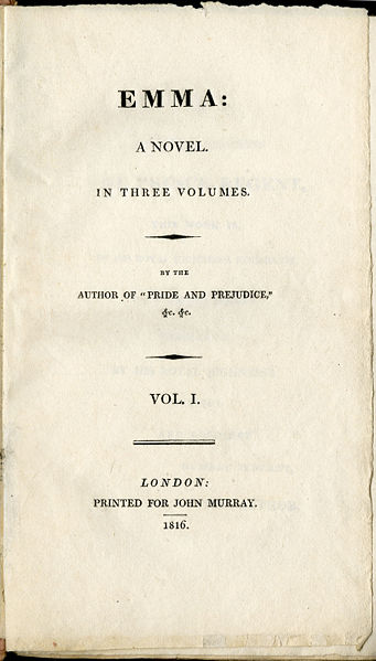 title page of _Emma_