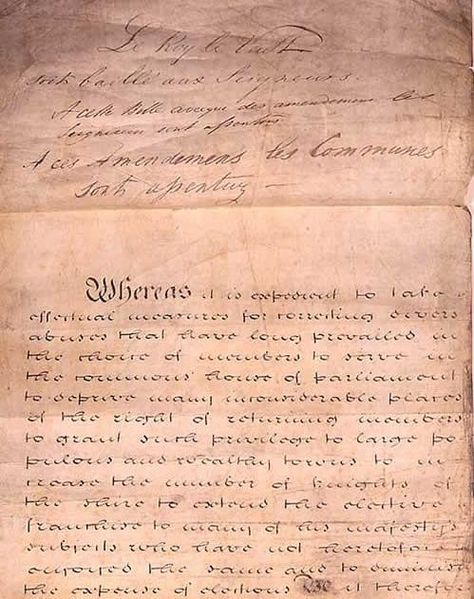 first page of Reform Act