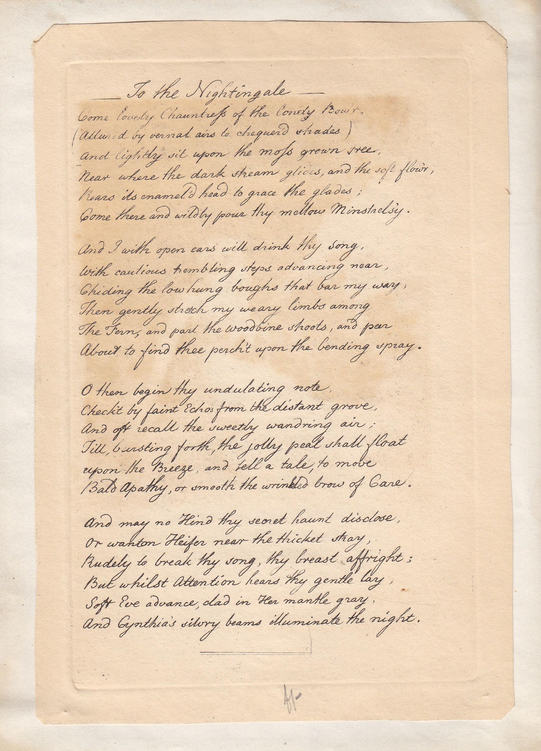 Cumberland manuscript