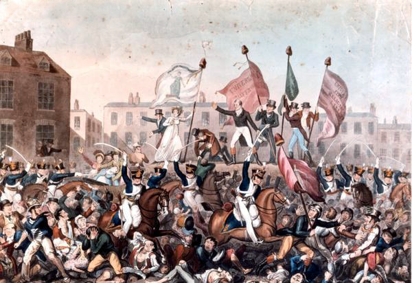 print depicting the Peterloo Massacre
