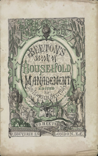 Title page of Beeton's book