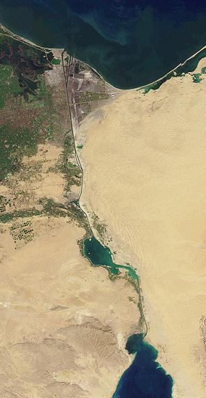 NASA image of the Suez Canal