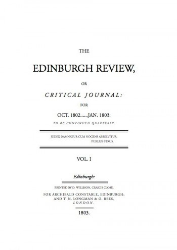first issue of the Edinburgh Review