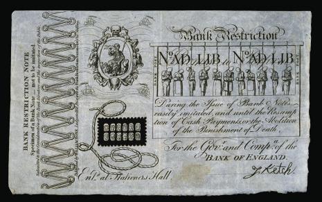 "Cruikshank, ""Bank Restriction Note"""