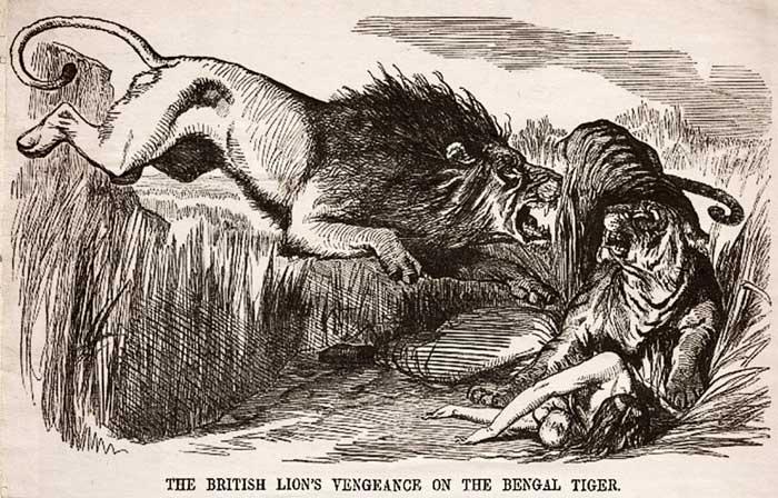 Punch cartoon, British Lion