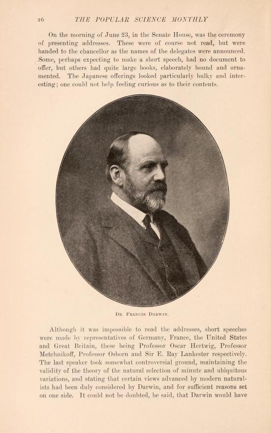 photo of Francis Darwin