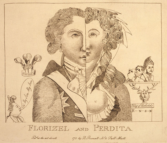 cartoon of Florizel and Perdita
