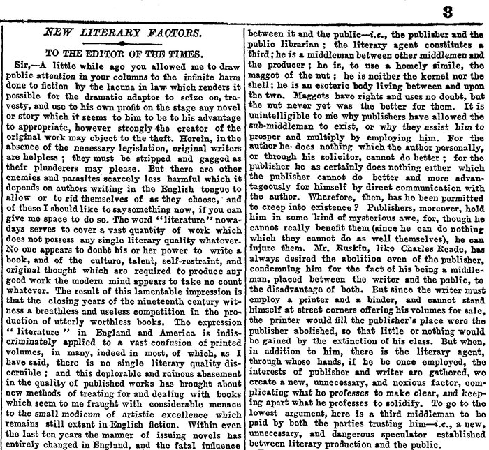 Ouida's letter to the Times