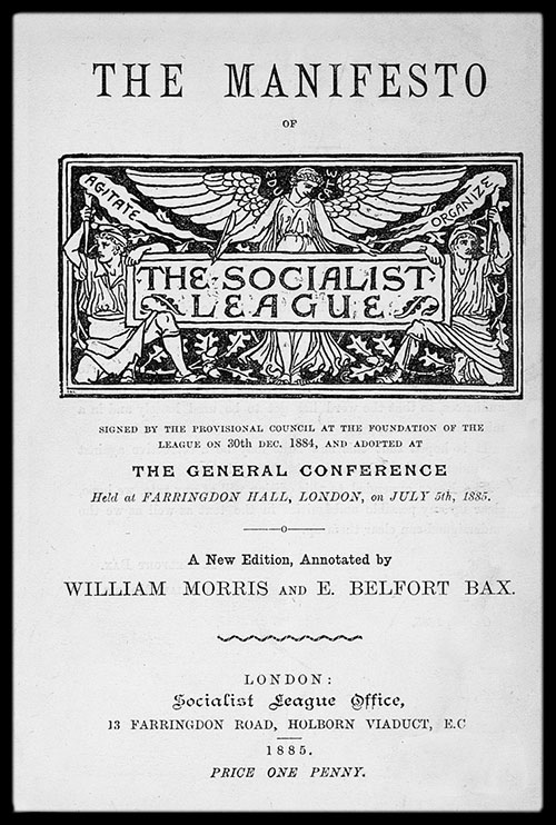 cover of manifesto of the socialist league