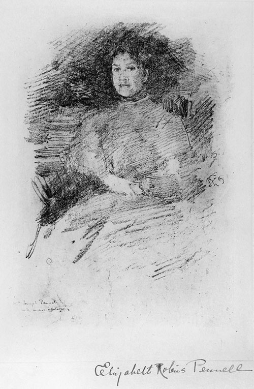 Whistler Lithograph of Pennell