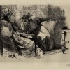Alma Tadema etching, Zal and Rudabeh