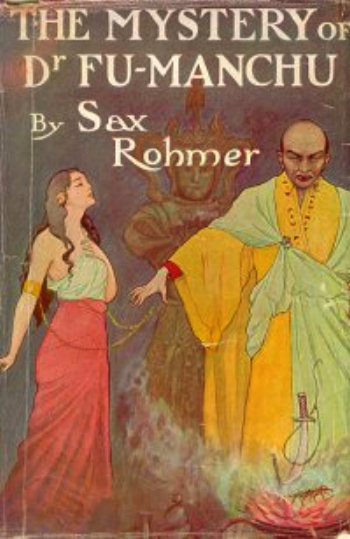 A 1913 cover of Sax Rohmer's The Mystery of Dr. Fu-Macnhu