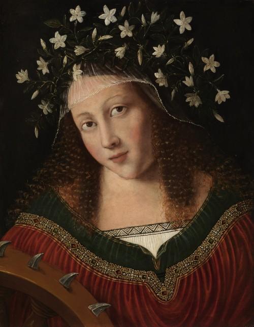 Painting of St. Catherine of Alexandria (c. 1520) Bartolomeo Veneto