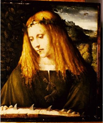 Painting of Saint Catherine of Alexandria: attributed in 1891 to Bartolomeo Veneto