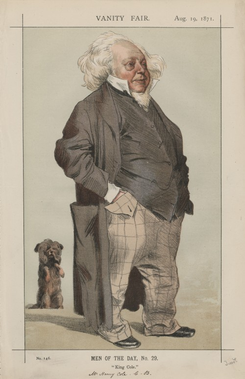 caricatured image of Henry Cole (lithograph)
