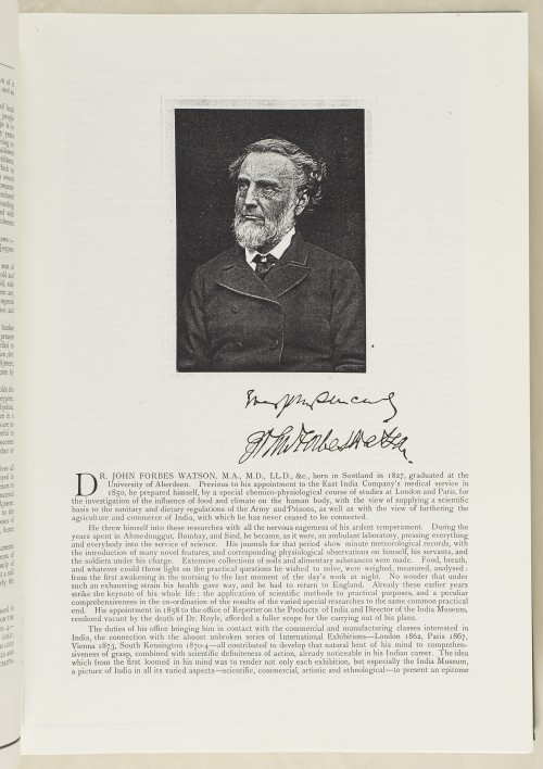 Image of portrait of John Forbes Watson in a book