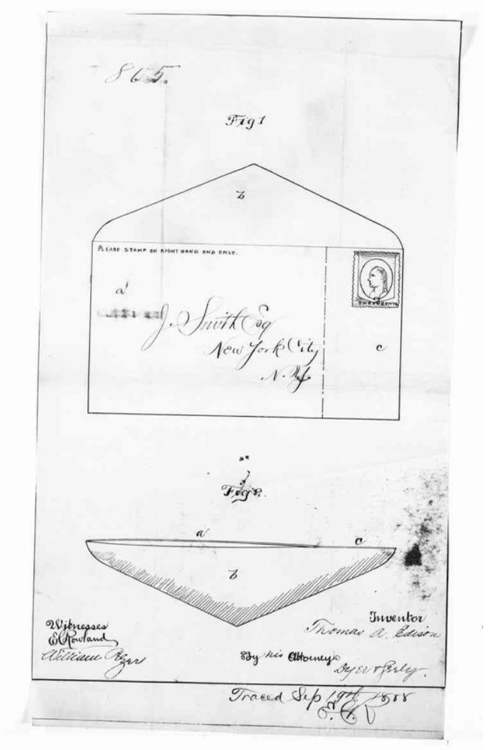 "Figure 1. Detail from ""Patent Application, Thomas Alva Edison, September 29th, 1888."" _Edison Papers Digital Edition_. Web. 7 Nov. 2019."
