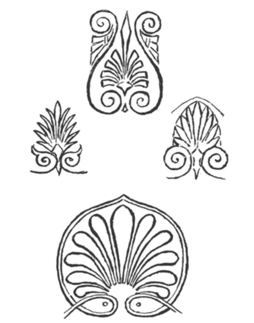 "Figure 14. ""Honeysuckle Pattern from Greek Vases,"" drawn by Clementina Anstruther-Thomson, from Vernon Lee and Clementina Anstruther-Thomson's _Beauty and Ugliness_ (1912)."