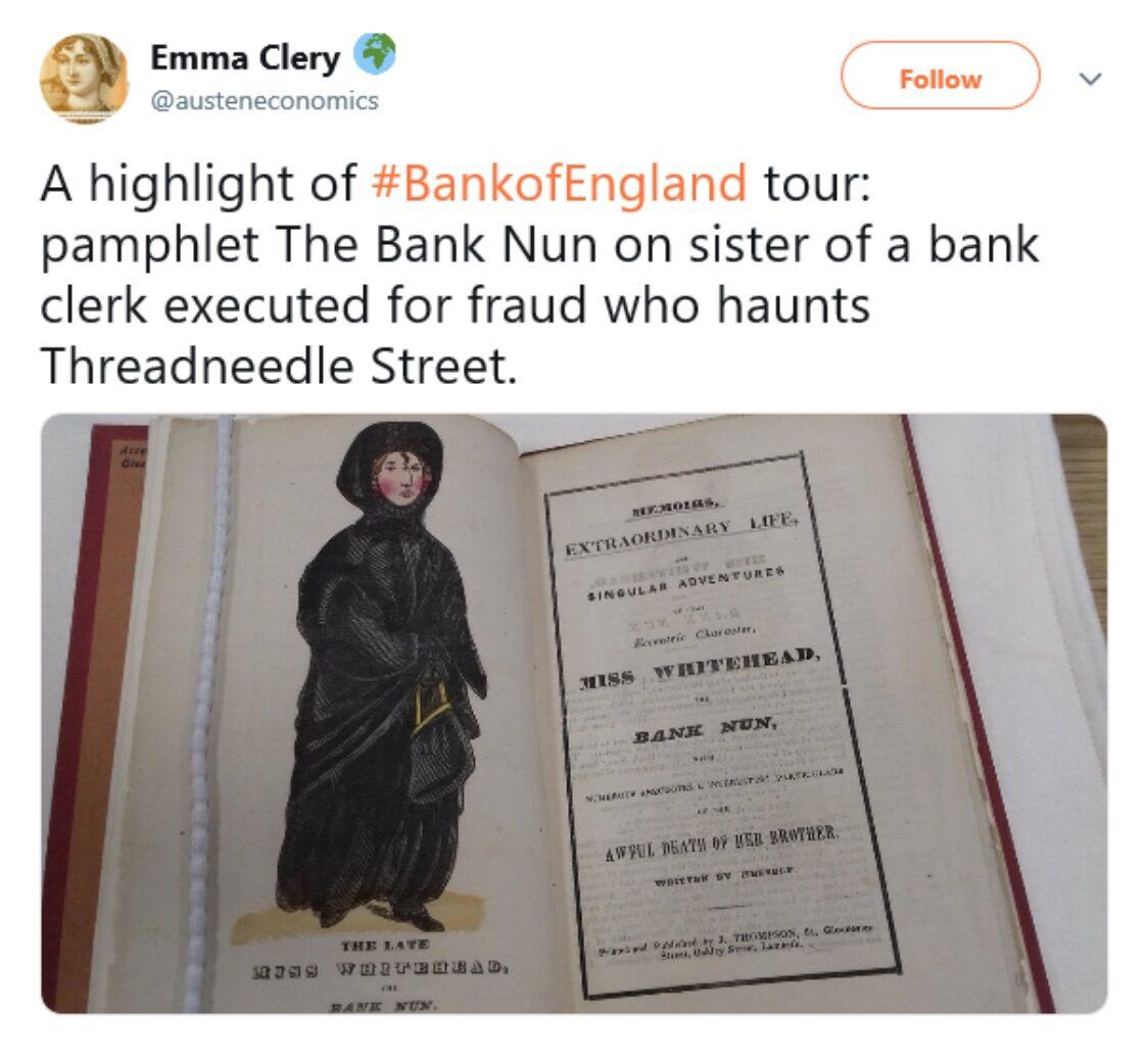 Figure 2: Emma Clery. @austeneconomics tweet of 13 May 2017.